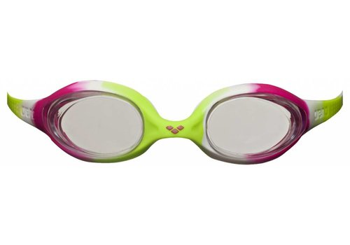 Arena Zwembril Junior Spider Lime-Fuchsia-Wit