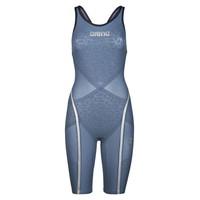 Arena Powerskin Carbon Ultra Dichte Rug Blauw-Zilver