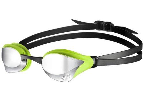 Arena Zwembril Cobra Core Spiegel Zilver-Groen