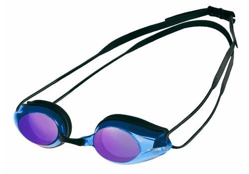 Arena Zwembril Tracks Spiegel Zwart-Blauw