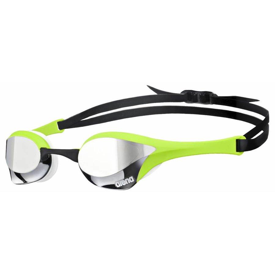 Arena Zwembril Cobra Ultra Spiegel Zilver-Groen-Wit