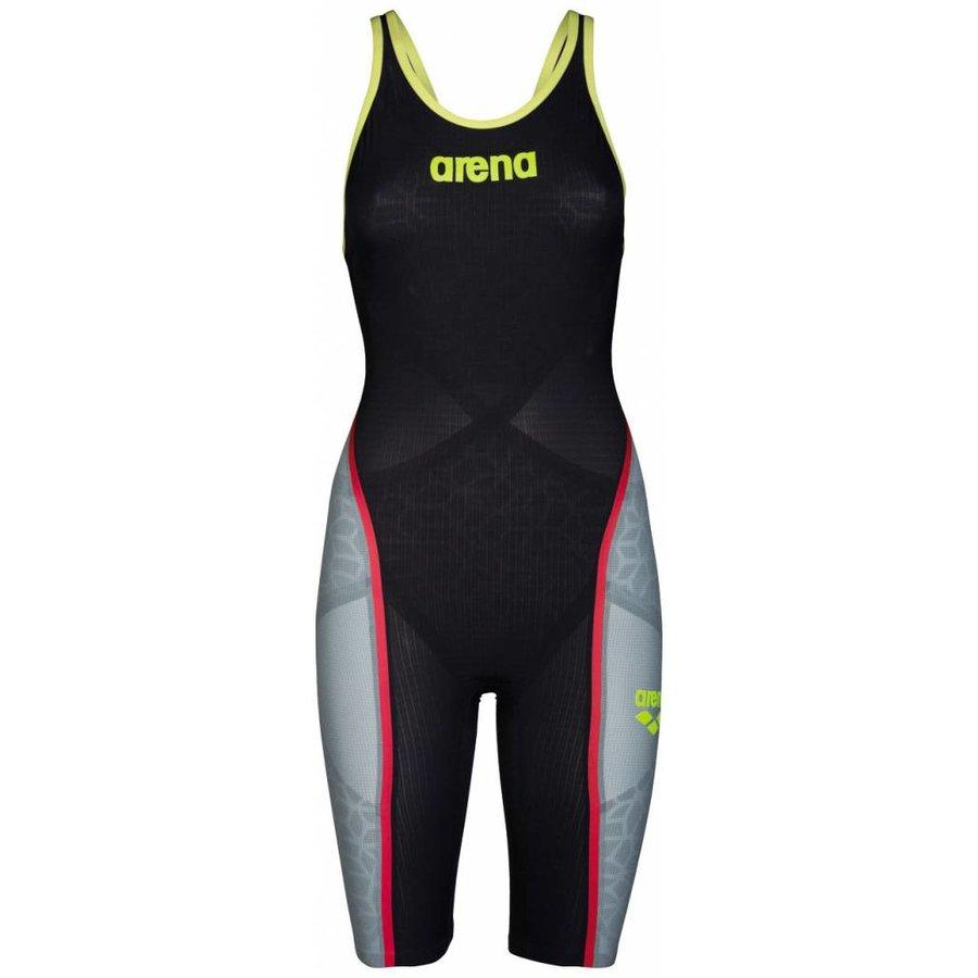 Arena Powerskin Carbon Ultra Dichte Rug Grijs-Fluor Geel