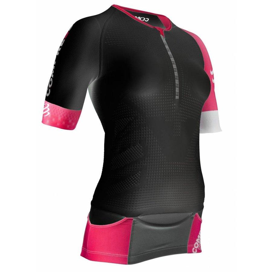 CompresSport TR3 Aero Shirt Dames Zwart-Roze