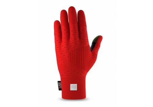 Compressport 3D Thermo Seamless Running Gloves Rood-Zwart