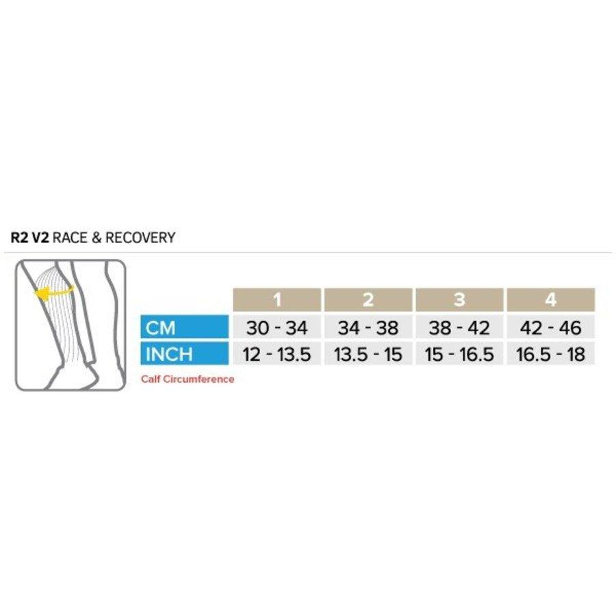 CompresSport Calf Sleeves R2 V2 Blauw