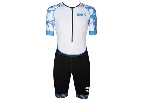Arena Trisuit Aero Heren Zwart-Wit-Blauw