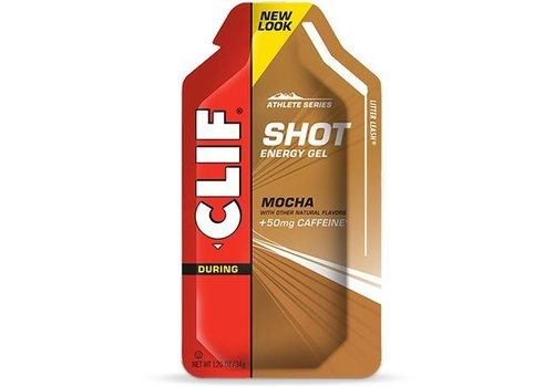 Clif® Shot Gel Mocha-Caffeine (per 24 in doos)