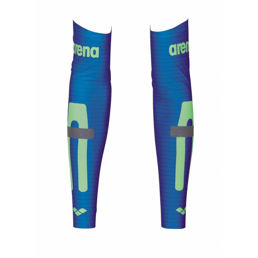 Arena Carbon Compression Arm Sleeves Blauw