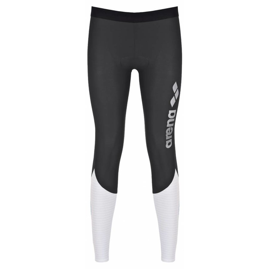Arena Carbon Compression Long Tight Dames Grijs-Wit