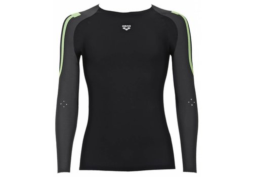 Arena Carbon Compression Long Sleeve Heren Grijs