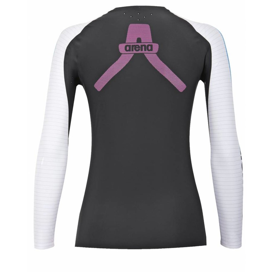 Arena Carbon Compression Long Sleeve Dames Grijs-Wit