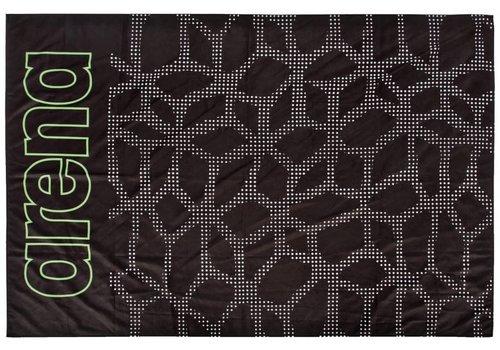 Arena Carbonite Microvezel Handdoek Zwart-Leaf