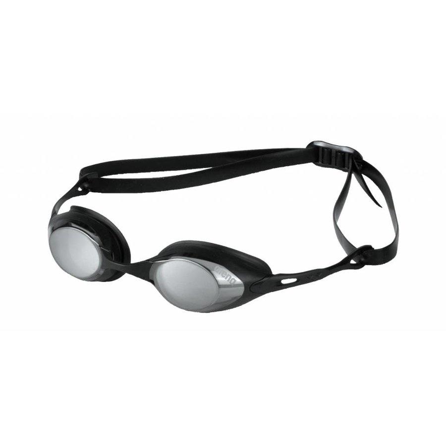 Arena Zwembril Cobra Spiegel Zilver-Zwart