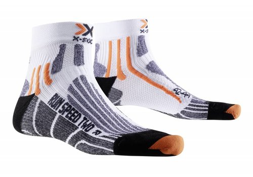 X-Socks Speed Wit-Zwart