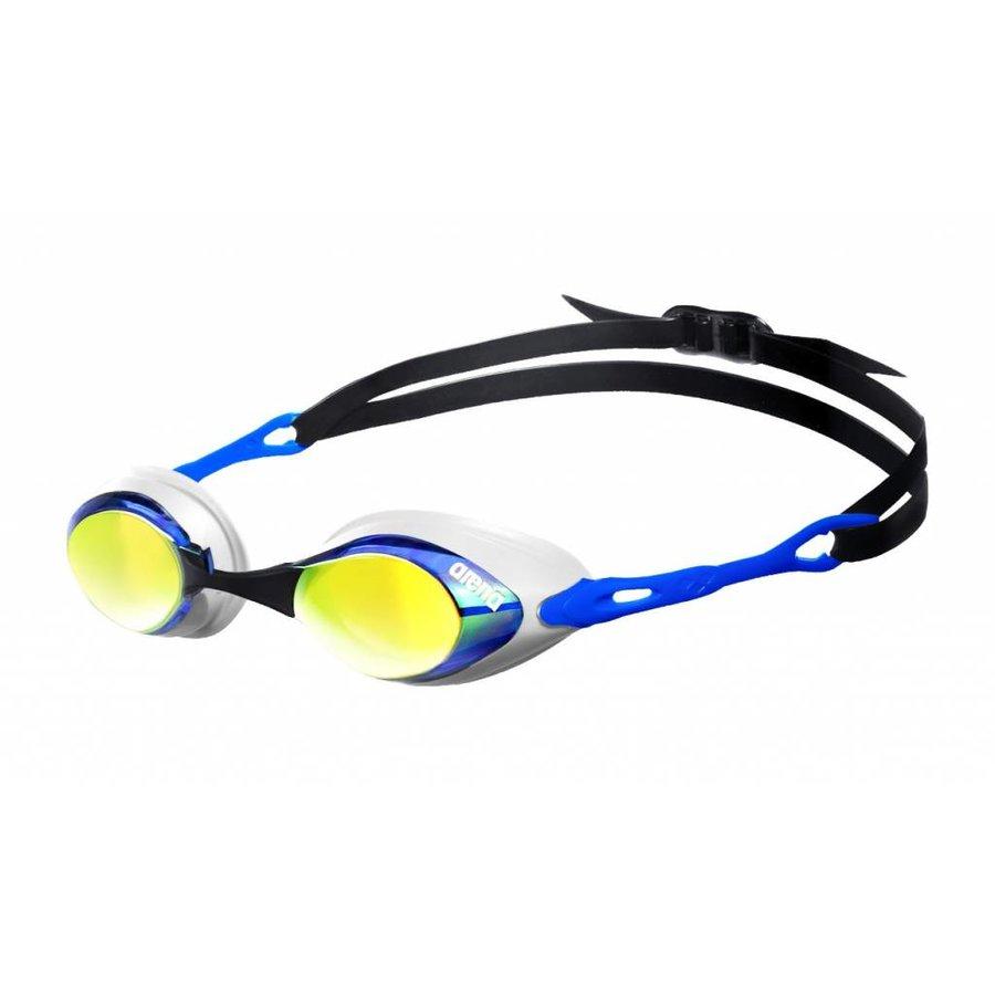 Arena Zwembril Cobra Spiegel Blauw-Oranje-Blauw