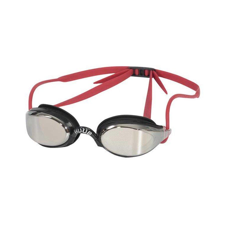 HUUB Zwembril Brownlee Spiegel Zwart-Rood Clear