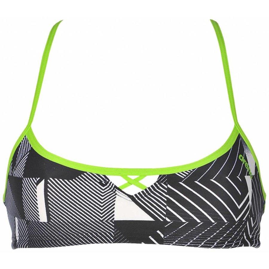Arena Bikinitop Zwart-Leaf