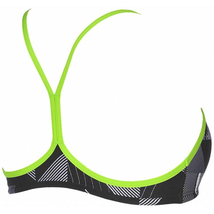 Arena Bikinitop Be Zwart-Leaf