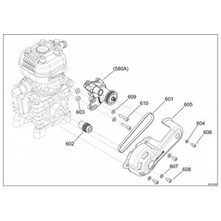 580A COMPLETE WATER PUMP