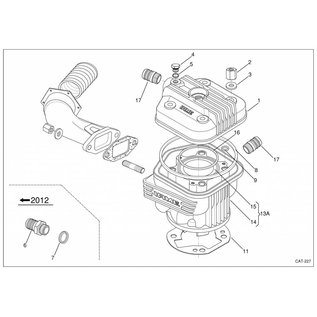 IAME S.p.A. Zylinderfussdichtung 2/10 SUD-TOP/X30 X30