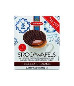 Daelmans Chocolate Caramel Stroopwafels   Cube Doos 8 stuks