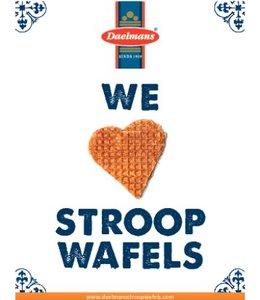 We Love Stroopwafels kaart