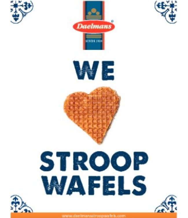 We <3 Stroopwafels card (with personal message)