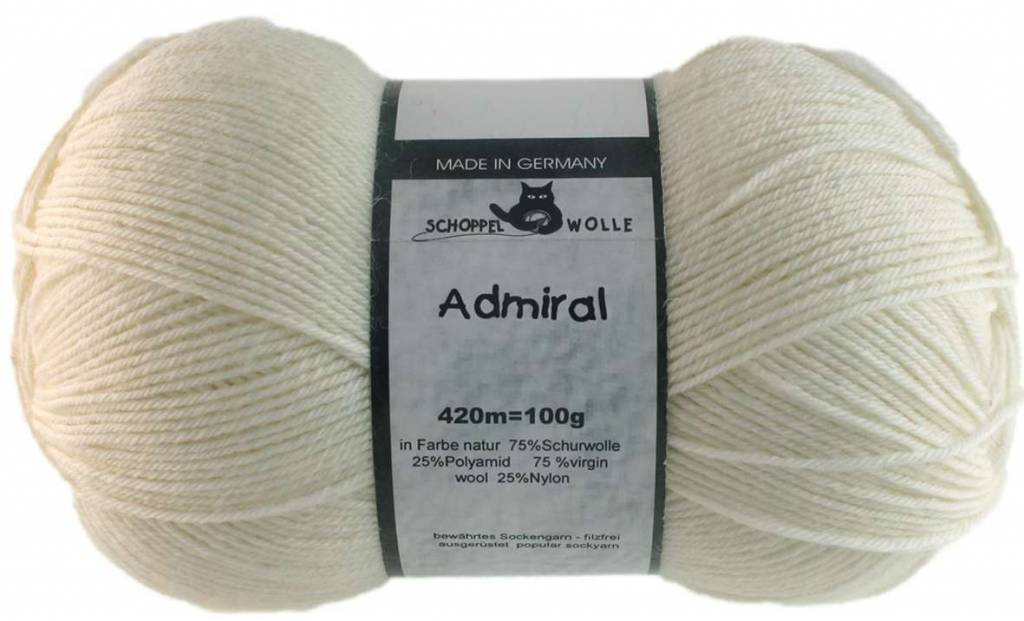 Schoppel-Wolle ADMIRAL 980 NATURAL