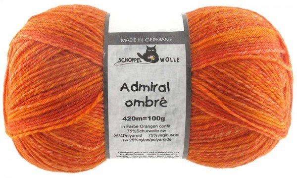 Schoppel-Wolle ADMIRAL OMBRÉ 1880OMBRE CONFIT OF ORANGE