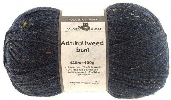Schoppel-Wolle ADMIRAL TWEED BUNT 3593 INK