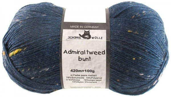 Schoppel-Wolle ADMIRAL TWEED BUNT 4993 JEANS MOTTLED