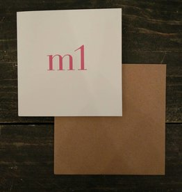 Tilly Flop M1 PINK - GREETING CARD