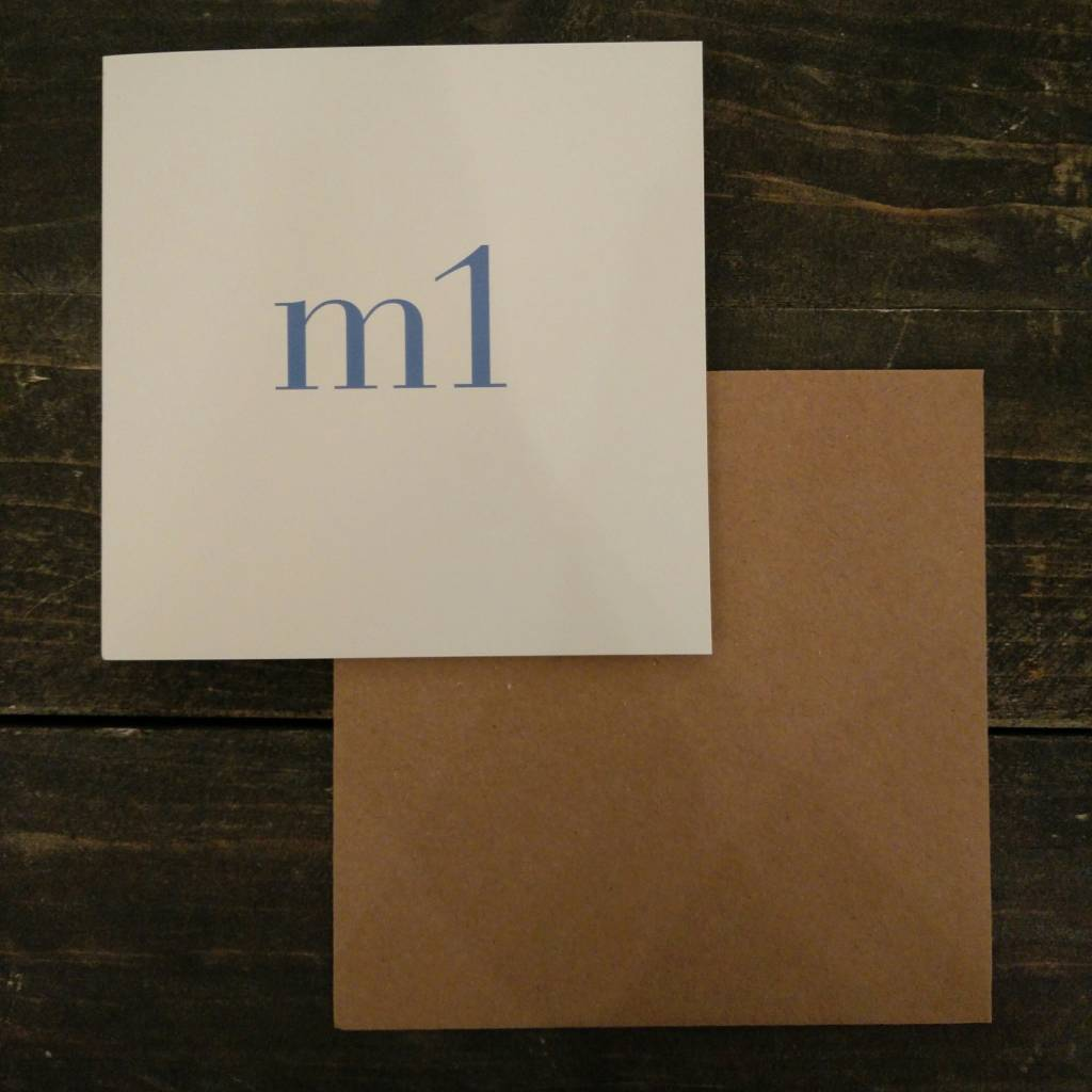 Tilly Flop M1 BLUE - GREETING CARD