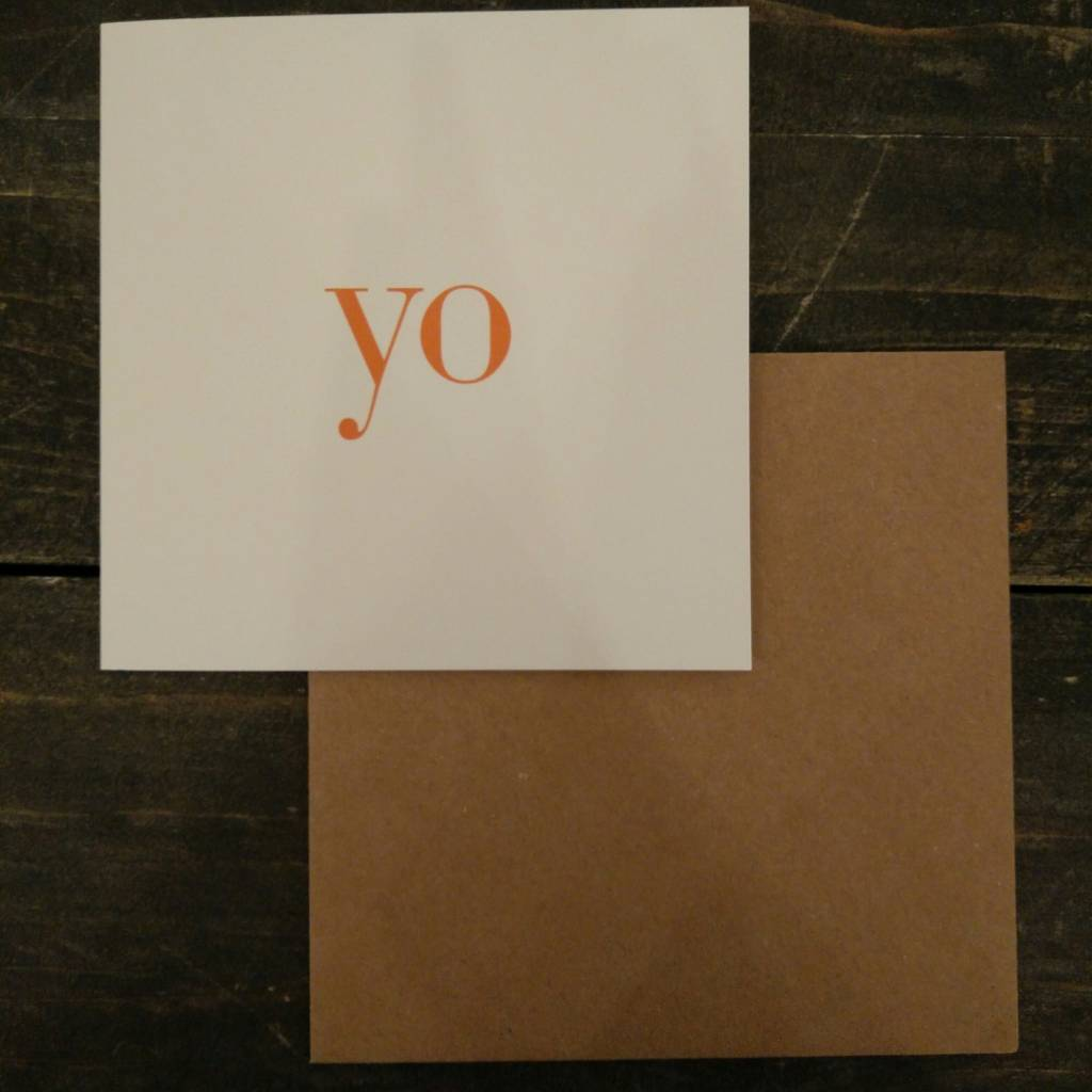 Tilly Flop YO - GREETING CARD
