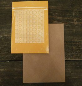 Tilly Flop WORD SHAWL - GREETING CARD
