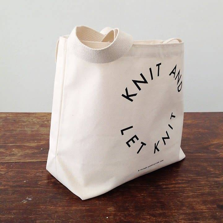 Fringe Supply Co. KNIT AND LET KNIT - TOTE BAG