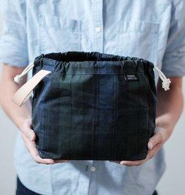Fringe Supply Co. FIELD BAG - BLACK-WATCH PLAID