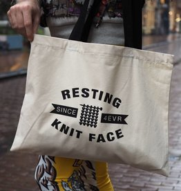 RESTING KNIT FACE - TOTEBAG