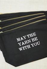 Knitting Goddess MAY THE YARN ZIP BAG