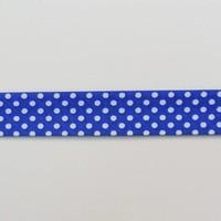 Biais - blauw met witte stippen