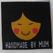Innaailabel 'Handmade by mum