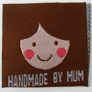 Innaailabel 'Handmade by mum'