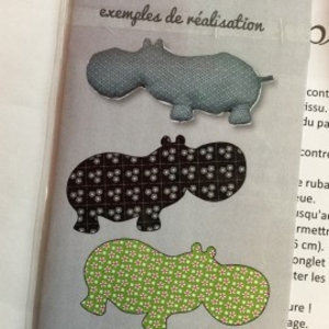 Patroon knuffel - Nijlpaard