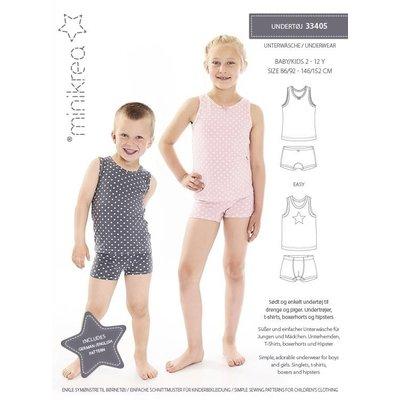 Minikrea Patroon - Minikrea: Ondergoed voor jongens & meisjes (2-12 jaar)