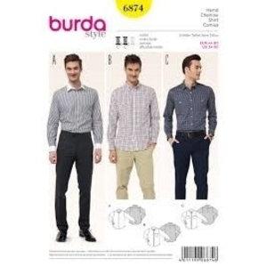 Burda Patroon - Mannenhemd, Burda 6874