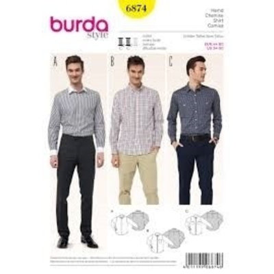 Patroon - Mannenhemd, Burda 6874