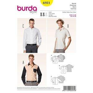 Burda - Mannenhemd, Burda 6931 - patroon