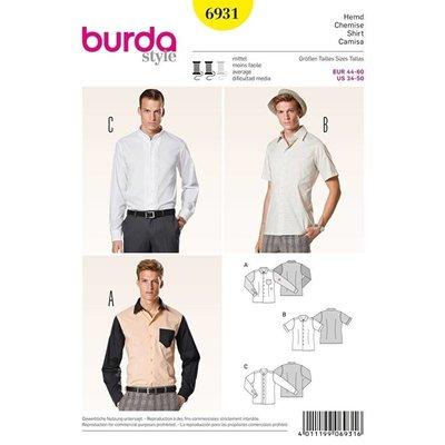 Patroon - Mannenhemd, Burda 6931