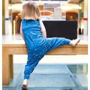 Compagnie M Patroon - Compagnie-M: Lila kruippak/jurk voor kleine meisjes (en jongens)