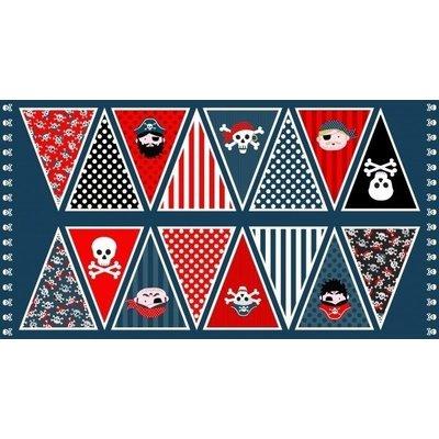 Katoen - Makeower - Piratenvlag (paneel 60 cm)